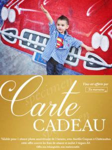 carte cadeau Châteaudun : anniversaire d'enfant