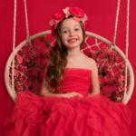 Anniversaire d'enfant au studio photo à Châteaudun : anniversaire de princesse avec une balançoire