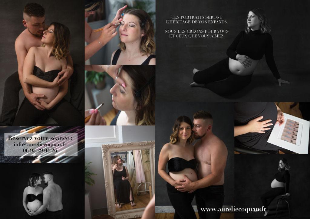 Séance photo grossesse type magazine pour un shooting maternité inoubliable en couple ou solo !